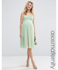 ASOS Maternity - WEDDING - Mittellanges Bandeau-Kleid mit Rüschen - Grün
