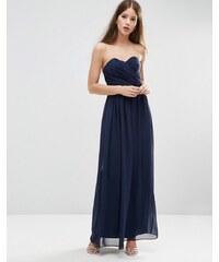 ASOS WEDDING - Maxi robe coupe bandeau - Bleu marine