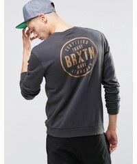 Brixton - Sweat avec logo rétro dans le dos - Noir