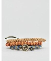 Icon Brand - Lot de bracelets avec perles et cordons - Multi