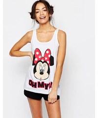 Missimo - Disney - Pyjama à imprimé Minnie avec short - Rouge