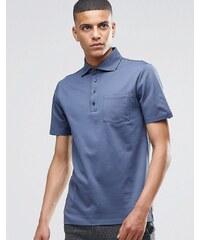 Reiss - Kurzärmliges Pikee-Polohemd - Blau