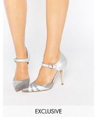 Terry de Havilland - Fran - Silbrige, irisierende Schuhe mit hohem Absatz - Silber