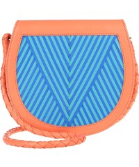 "Lili Radu Sacs à Bandoulière, Saddle Bag ""V"" Orange/ Striking Blue/ Turquoise en multicolore"