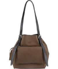 MM6 Sacs à Bandoulière, Perforated Leather Shopper Brown Medium en marron