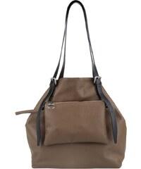 MM6 Sacs à Bandoulière, Perforated Leather Shopper Brown Large en marron