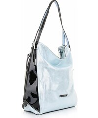 Dámské kabelky Silvia Rosa Univerzální lak světle modrá