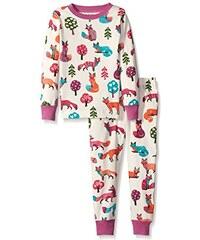 Hatley Mädchen Zweiteiliger Schlafanzug Lbh Kids Pj Set - Party Fox