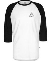 Huf Tripple Triangle Raglan Longsleeve white/black