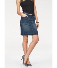 ARIZONA Džínová sukně Arizona středně modrá - Normální délka (N)