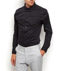 ELISE RYAN Strečová černá super slim fit košile