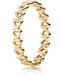 Pandora Kombinierbarer Ring Verbundene Liebe Gold 150177-48