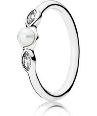Pandora Kombinierbarer Ring Leuchtende Petite Blätter Silber Beige 190964P-48