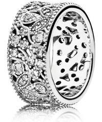 Pandora Ring Leuchtender Blätterkranz Silber 190965CZ-48