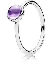 Pandora Kombinierbarer Ring Malerisches Tröpfchen Silber Lila 190983ACZ-48