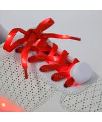Lesara LED-Schnürsenkel aus Nylon - Rot