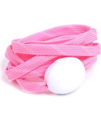 Lesara LED-Schnürsenkel aus Nylon - Pink