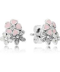 Pandora Ohrstecker Malerische Blüten Silber Pink Cubic Zirconia 290686ENMX