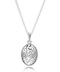 Pandora Blütenornament Kette mit Anhänger Silber 390383-60