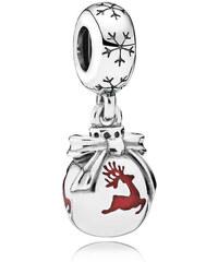 Pandora Rentier-Weihnachtsornament Charm-Anhänger Grau 791768EN07