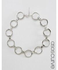 ASOS Curve - Kurze Halskette mit rundem Anhänger - Silber