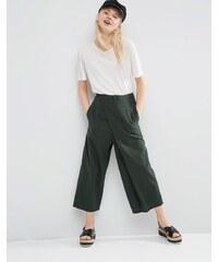 ASOS - Jupe-culotte large drapée et texturée coupe courte - Vert