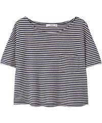 MANGO Streifen-T-Shirt Mit Tasche