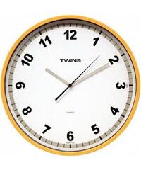 Nástěnné hodiny Twins 2300 yellow 30cm