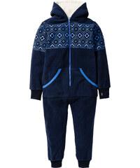 bpc bonprix collection Combinaison en polaire avec capuche en polaire peluche, T. 116-170 bleu manches longues enfant - bonprix