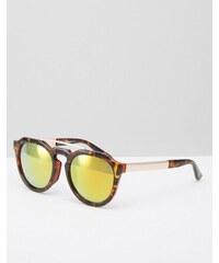 AJ Morgan - Runde Sonnenbrille mit verspiegelten Gläsern - Braun