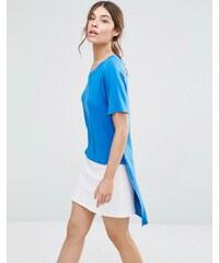 Good Vibes Bad Daze - T-shirt à ourlet asymétrique - Bleu