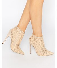 Little Mistress - Hepburn - Bottines à talons en dentelle - Beige