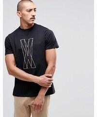 Playground - Court - T-Shirt mit grafischen Linien - Schwarz