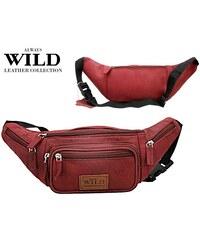 Červená kožená ledvinka Always Wild (série 2506-SH) odstíny barev: červená