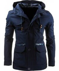Jarní/podzimní tmavě modrá bunda (tx1191) velikost: XXL, odstíny barev: modrá