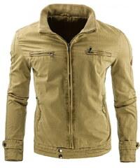 Jarní/podzimní khaki bunda (tx1178) velikost: XXL, odstíny barev: zelená