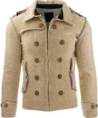 Pánská béžová bunda (tx1226) velikost: S, odstíny barev: béžová