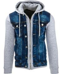 Pánská džínová bunda (tx1249) velikost: XXL, odstíny barev: modrá