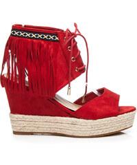 SERGIO TODZI Červené sandály se střapcemi - L939R velikost: 38, odstíny barev: červená