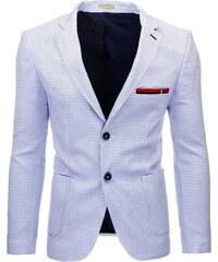 Bílé kostkované sako (mx0259) velikost: S, odstíny barev: bílá