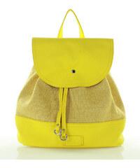 Žlutý batoh FURRINI (pl27c) odstíny barev: žlutá