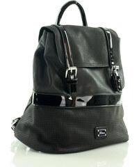 Stylový černý batoh FURRINI (PL28) odstíny barev: černá
