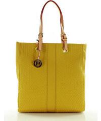 Atraktivní žlutá nákupní taška MONNARI (0250a) odstíny barev: žlutá
