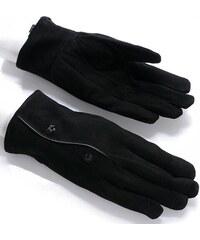 Dámské semišové černé rukavice (r16) odstíny barev: černá