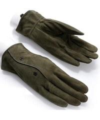 Dámské khahi semišové rukavice MOSCOW (r16fM) odstíny barev: zelená