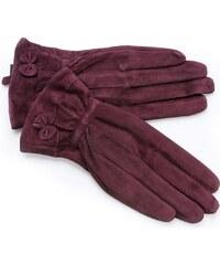 Dámské fialové semišové rukavice FINLAND (r17gM) odstíny barev: fialová