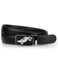 Pánský pásek černý (hx0089) velikost: 125, odstíny barev: černá