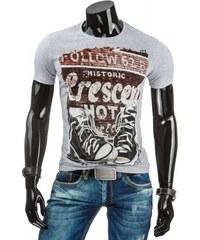 Pánské tričko Collow šedé - šedá
