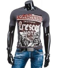 Pánské tričko Collow tmavě šedé - dark šedá