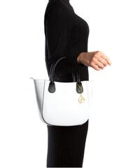Carla Ferreri Elegantní kožená business kabelka 3031 Bianco